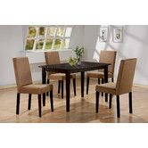Found it at AllModern - Ferndale 5 Piece Dining Set. $465.  Would work as desk and dining room.