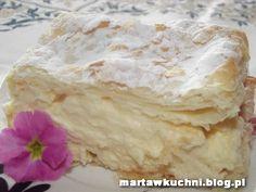 Karpatka z ciasta francuskiego z kremem budyniowym | martawkuchni