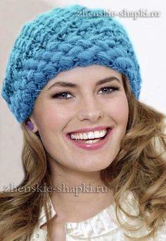 Вязание женской зимней шапки с описанием
