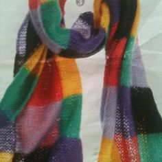 Lovely colours in a mohair scarf ....