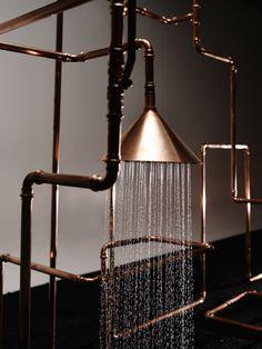 Industriella duschen från Axor av Front Design - Badrumsdrömmar