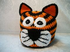 Crocheted Tiger Hat by MamawsMadness on Etsy, $10.00