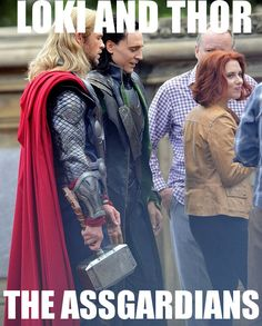 thor loki dat ass | ... and Tom Hiddleston Both Caught Checking Out Scarlett Johansson's Ass