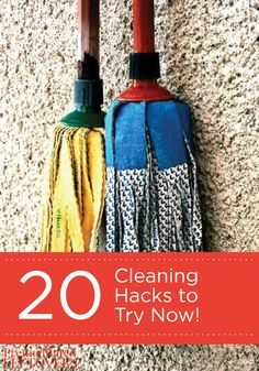 You must check out these 20 Cleaning Hacks to Try Now! Leave your home sparkling clean with these brilliant and easy tips.