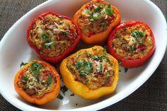 Paprika gefüllt mit Hackfleisch und Reis