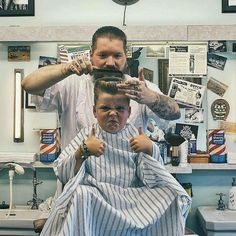 This post is brought to you by the best barber booking app . We highly suggest it 💯. Tony Barber, Barber School, Barber Shop Decor, Kids Barber Shop, Shaved Hair Cuts, Barber Haircuts, Barbershop Design, Best Barber, Barber Chair