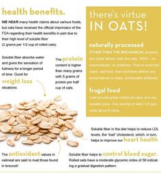 Benefits of Oats.