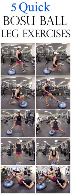 5 Quick Bosu Ball Leg Exercises #legday #fitness