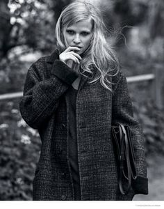 fashion editorials, shows, campaigns & more!: go slow lara: lara stone by bruce weber for the new york times t style mens fall 2014 Bruce Weber, Lara Stone, Stella Mccartney, Magazine Man, Vogue Spain, Mens Fall, Black White Fashion, Poses, Fashion Over 50