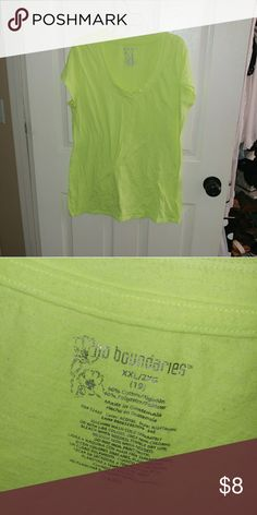 Neon Tee This is awesome for anything neon themed! I wore this to football games in the fall!  I now have no use for it so it needs a new home!  It's XXL but I wore it over sized and it looked cute! Make an offer? Tops Tees - Short Sleeve