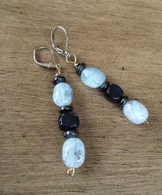 Aquamarine Gemstone Dangle Earrings by ASapphireSpirit on Etsy