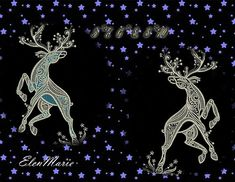 Christmas Deer - Machine Embroidery Design