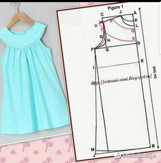 Sewing clothes easy baby gifts Ideas - Her Crochet Baby Girl Dress Patterns, Baby Clothes Patterns, Dress Sewing Patterns, Little Girl Dresses, Clothing Patterns, Sewing Kids Clothes, Baby Sewing, Fashion Sewing, Fashion Kids