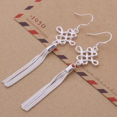 Traditional Chinese Knot Shaped Earring