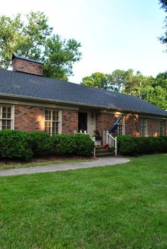 The typical red brick ranch everyone knows that ranch for Exterior updates for ranch style homes