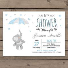 Elephant Baby Shower Invitation Little Peanut Elephant