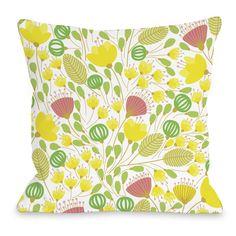 Penelope Florals Throw Pillow