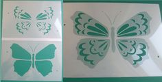 Beautiful Flying Butterfly 2 Layer Stencil - Ideal Stencils
