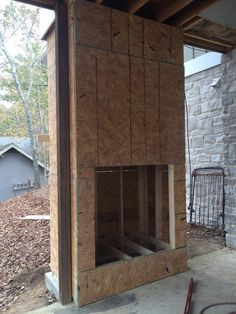 How we Built Our Outdoor Fireplace on our Patio Porch – Life with Neal & Suz - Modern