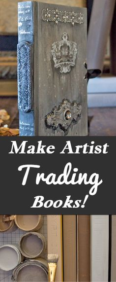 Make Artist Trading Books! With Heather Tracy for The Graphics Fairy. Craft yourself some beautiful DIY Home Decor Accessories with this beautiful Project Idea! Full Tutorial on the blog!