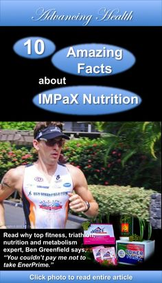 To help you understand what is going on inside your body when you consume IMPaX nutrition, I've chosen 10 amazing facts to share with you. By Ben Greenfield, NSCA-CPT, CSCS, MS, C-ISSN. Sometimes it's easy for us to become complacent, or even ignorant, about what kind of pills and powders we consume on a daily basis. Click photo to read entire article. http://impaxworldconnect.com/featured/10-amazing-facts-about-impax-nutritional-supplements