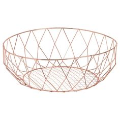 Copper Fruit Bowl Copper Wire Basket, Wire Baskets, Breakfast In Bed, Online Shopping Stores, Decorative Bowls, New Homes, Metal, Design, Fruit Bowls