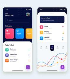 Todo List Mobile App UI Kit Template Sketch - Download App Ui Design, Interface Design, Flat Design, User Interface, Mobile App Design Templates, To Do App, Wireframe, Todo List, App Design Inspiration