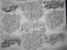 Photos - Boog Tattoo Flash Book Tattoo Flash Letters Change My Tattoo Tattoo Name Fonts, Tattoo Fonts Alphabet, Tattoo Lettering Styles, Chicano Lettering, Graffiti Lettering Fonts, Tattoo Design Drawings, Script Lettering, Tattoo Sleeve Designs, Lettering Design