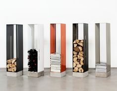 Manhattan Cabinet Kaminholzregal