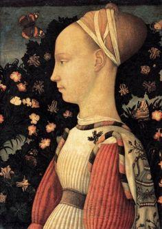 Pisanello, Portrait of a Princess of the House of Este, 1436-38, Tempera on wood, 43 x 30 cm, Musée du Louvre, Paris