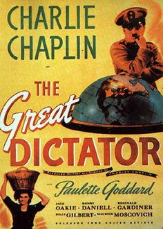 Una de las películas más famosas de Charle Chaplin y su primera cinta sonora. Fue estrenada en 1940 y cuenta con tres Oscar de la academia