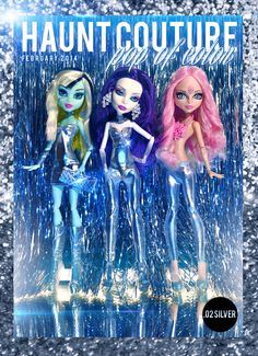 Monster High POP of Color Silver Collection on Etsy, $18.00