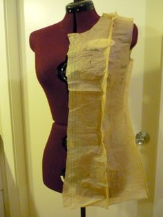 Princess-Seam FBA (Full Bust Adjustment), try the tissue on yourself or a dress form
