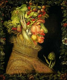Giuseppe Arcimboldo - L'Eté - Musée du Louvre - Paris - www. Giuseppe Arcimboldo, Kunsthistorisches Museum, Louvre Paris, Food Artists, Italian Painters, Italian Artist, Art Plastique, Oeuvre D'art, Art History
