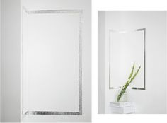 decorating walls w/silver foil tape by ivania carpio of love aesthetics: simply tape a rectangle to the wall + voilà.