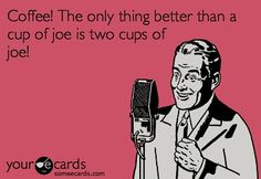How many cups of coffee have you had so far today?? {I've only had 2 so far... but the night is young!} :) #coffee