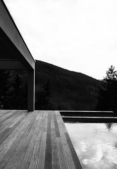 """bernd steinhuber / house for c&k 2010 architectural design and photography for a couple that said: """"we like minimalist style"""". black and white documentation as an also minimalist answer. Minimalist Style, Minimalist Fashion, Interior Architecture, Interior Design, Railroad Tracks, Couple, Black And White, Photography, Projects"""
