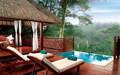 Ayung River Pool Villa, Kupu Kupu Barong Resort, Bali