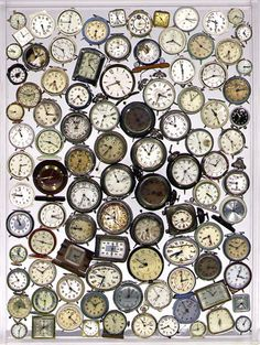 "Title: O'Clock (1998), Arman  Clocks and timepieces make recurring appearances in Arman's work, a reflection of his abiding interest in time. Yet when asked if he had an obsession with time, he demurred, explaining that his desire to freeze time has more to do with an obsession with memories. ""Memory creates time,"" he said. ""Time doesn't exist. It's more subjective than real. Time doesn't exist. I believe in memory. Memory is the real inspiration. Memory creates time."