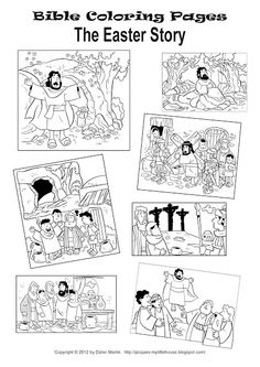 Easter story coloring page.