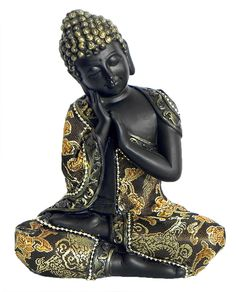 Thinking Buddha (Marble Dust and Cloth) Baby Buddha, Buddha Zen, Budha Statue, Culture Of Thailand, Buddha Gifts, Small Buddha Statue, Buddha Home Decor, Zen Design, Buddha Sculpture