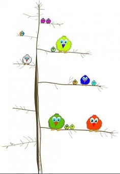 Fotobehang Little Ones - Tweety Birds - FotobehangFactory.nl