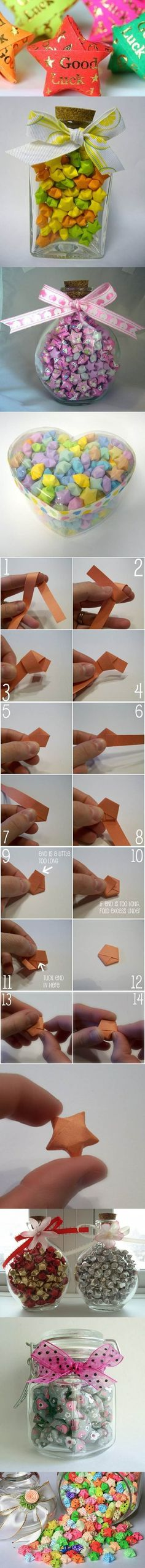 DIY Origami Lucky Stars | iCreativeIdeas.com Like Us on Facebook ==> https://www.facebook.com/icreativeideas