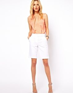 Enlarge ASOS Linen Shorts In Longline