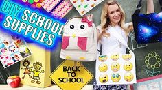 15 Epic DIY Projects for Back to School! DIY School supplies and room organization for back to school! In this DIY video I show 15 DIY school supplies, room organization and room decor DIY projects for School Supplies Organization, Diy School Supplies, Room Organization, Diy Projects For School, Easy Diy Projects, School Ideas, Puffy Paint, Sara Beauty Corner Diy, Diy Instagram