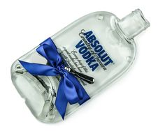 Absolut Vodka Melted Bottle Cheese Plate / by MitchellGlassworks