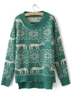 Deer Print Sweater