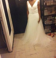 Robe de mariée en tulle et organza d'occasion à Nanterre
