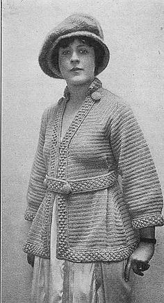 1900s sweaters | 1900's Sweater Coat Pattern | Old Timers