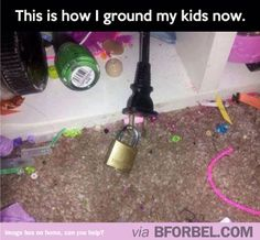 Grounding kids in the 21st century. The biggest parenting WIN EVER.